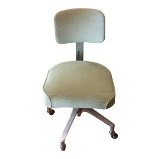 Art Deco Office Chair on Casters Newly Upholstered For Sale