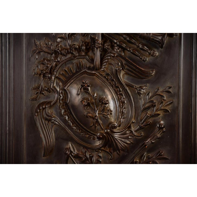 Antique Neoclassical Carved Doors - Set of 4 - Image 8 of 11