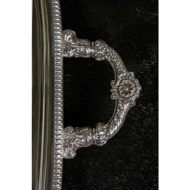 Traditional Silver Plate Server For Sale - Image 3 of 7