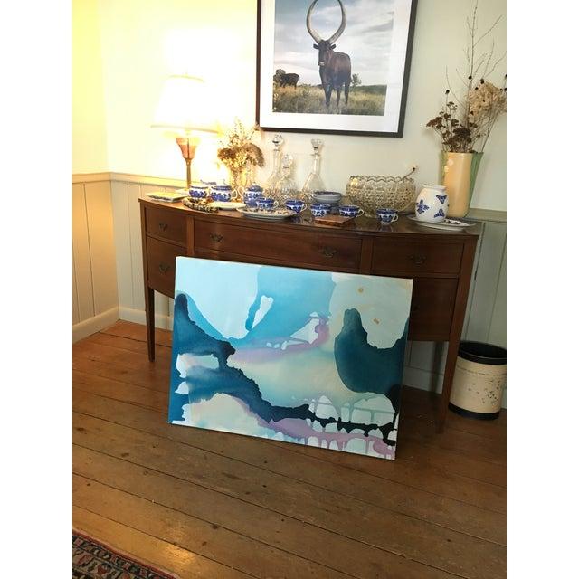 Hampton Water Way Landscape Acrylic on Canvas - Image 3 of 3