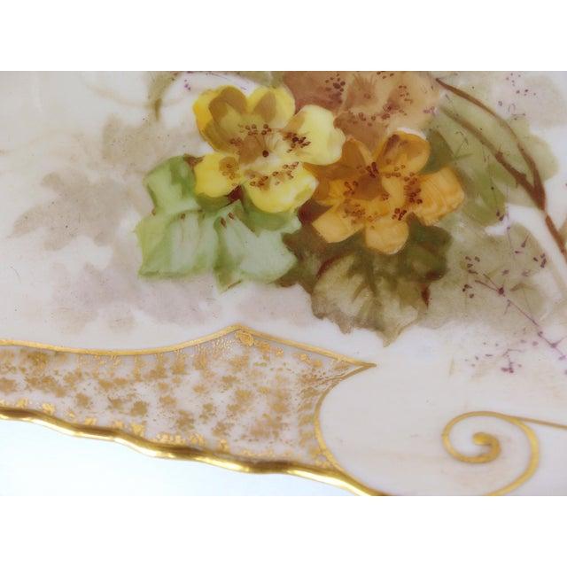 White 1900 J. Etienne Hand-Painted Limoges Porcelain Fish Platter For Sale - Image 8 of 11
