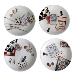 French Gien Game Plates, Set of 4 For Sale