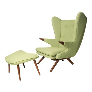 Model 91 Papa Bear Chair & Ottoman by Svend Skippe For Sale