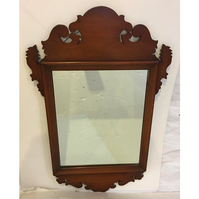Chippendale Style Mahogany Mirror Wall Decor For Sale In New York - Image 6 of 6