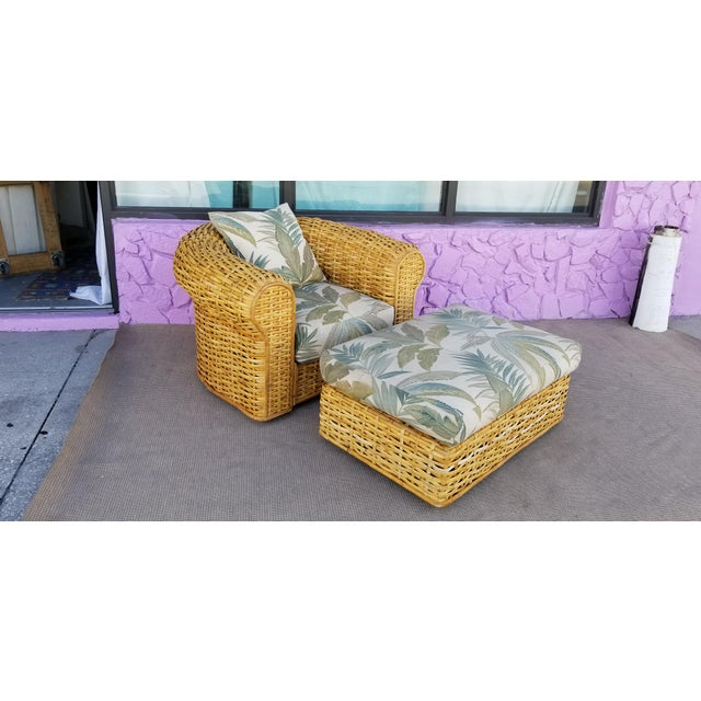 We are delighted to offer for sale a stunning Large Ralph Lauren Tropical Mid-century Modern Woven Rattan Club Lounge...