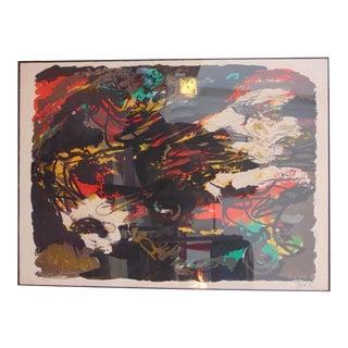 Signed 1962 Karel Appel Lithograph For Sale