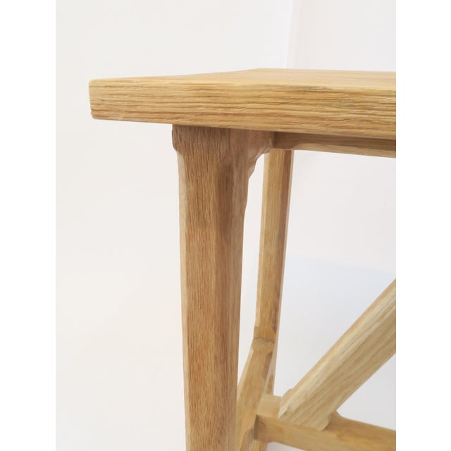 Martin & Brockett Short Trestle Wood Table - Image 6 of 7