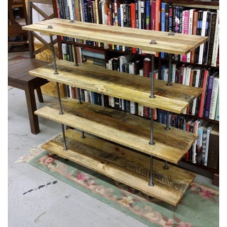 Industrial Style 4 Shelf Pallet Wood Bookcase Preview