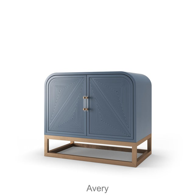 Not Yet Made - Made To Order Avery Credenza - Newburyport Blue For Sale - Image 5 of 5