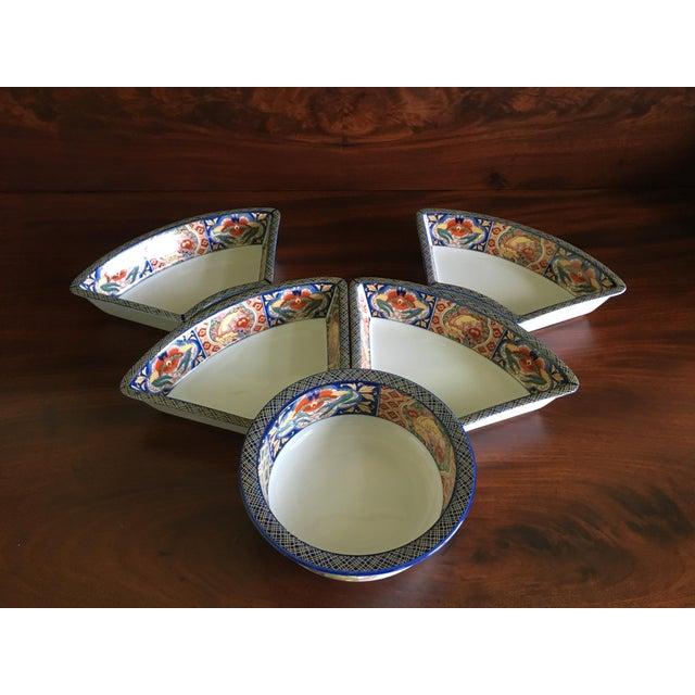 Japanese Ceramic Appetizer Serving Set of 5 For Sale - Image 4 of 13