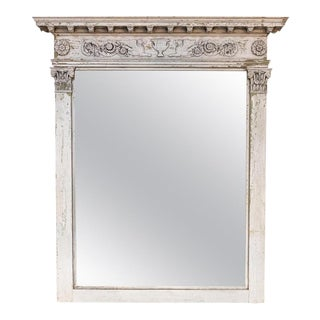 Early 19th Century Painted Swedish Mirror For Sale