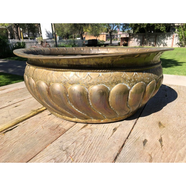 Vintage French Style Brass Planter For Sale - Image 10 of 10