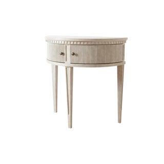 Gustavian Aurora Demi-Lune Nightstand For Sale
