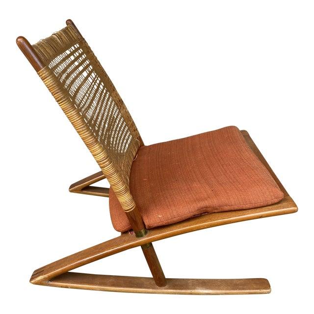 1950s Fredrik Kayser Rocking Chair For Sale