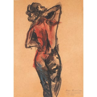 Ink & Pastel Figure Drawing by Rob Delamater For Sale