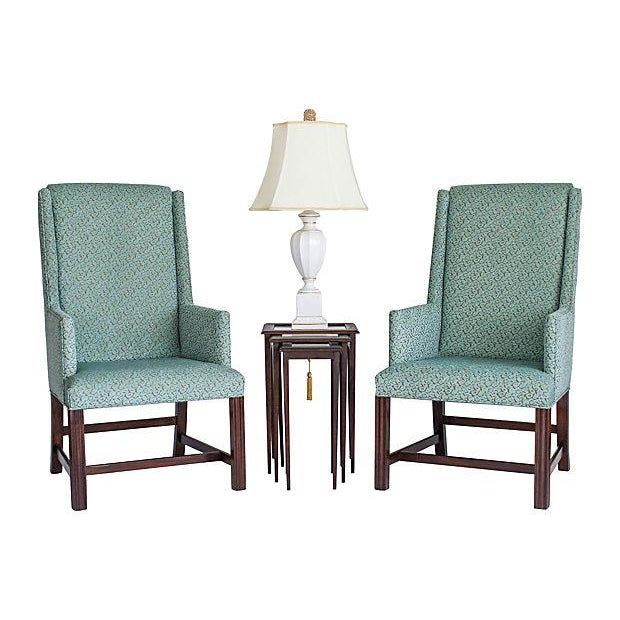 White Furniture Wingback Chairs - A Pair - Image 8 of 8