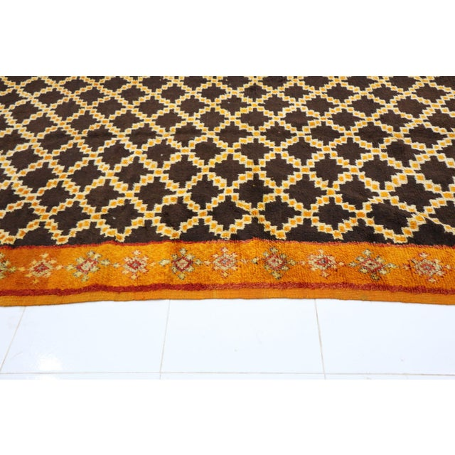 """1970s Taznakht Moroccan Rug, 5'0"""" X 11'2"""" Feet For Sale - Image 5 of 6"""