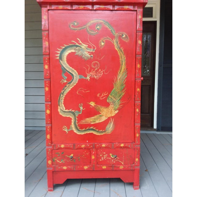 Red Dragon Wine Cabinet For Sale - Image 11 of 11
