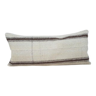 Vintage Wool Woven Kilim Pillow Cover For Sale