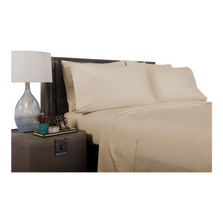 Florence Solid Flat Sheet Queen - Pumice For Sale