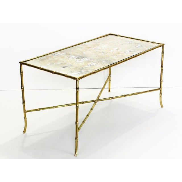 Maison Bagues French Brass Bamboo Coffee Table - Image 2 of 11