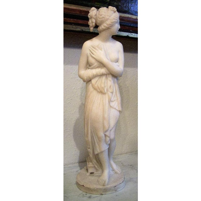 Late 19th Century 19c Italian Marble Figurine of Venus For Sale - Image 5 of 8