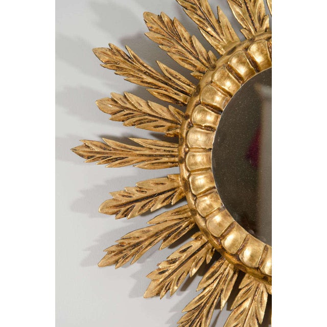 Giltwood Sunburst Mirror For Sale - Image 4 of 4