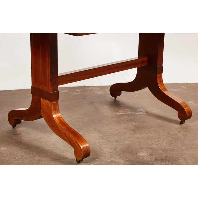 Wood 19th Century Danish Mahogany Empire Drop Leaf Table with Intarsia Inlay For Sale - Image 7 of 9