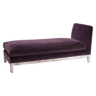 Modern Purple Velvet Fainting Couch
