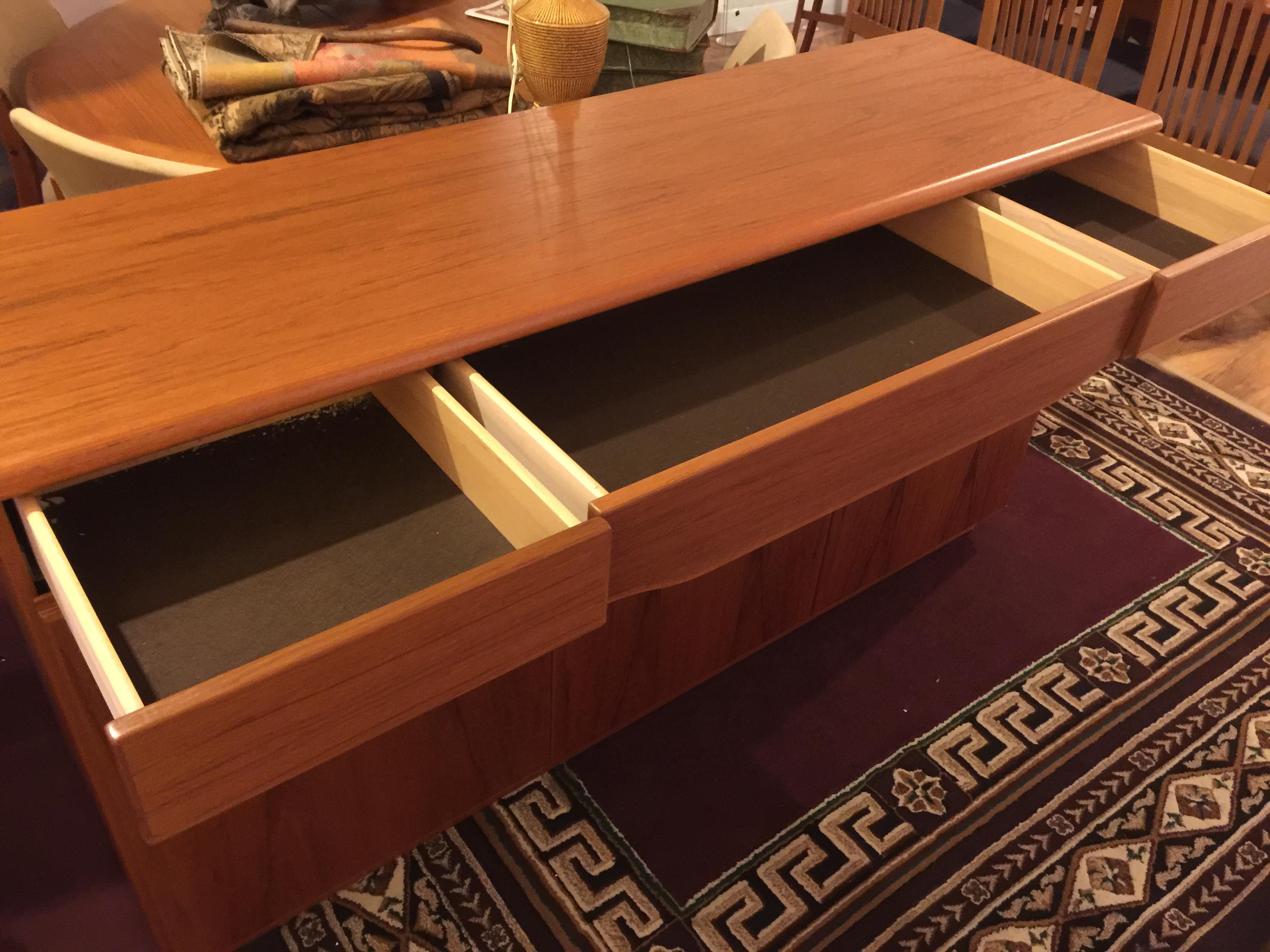 Danish Modern Teak Buffet By Skovby   Image 5 Of 9