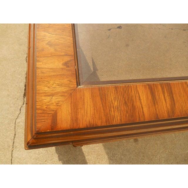 Burl Coffee Table Mid Century: Mid-Century Burl Wood & Brass Coffee Table