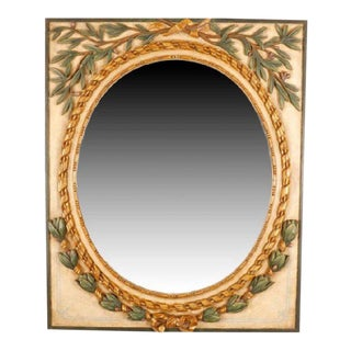 Neoclassical Carved Giltwood and Painted Mirror