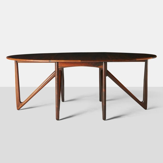 Mid-Century Modern Kurt Ostervig Rosewood Dining Table For Sale - Image 3 of 6