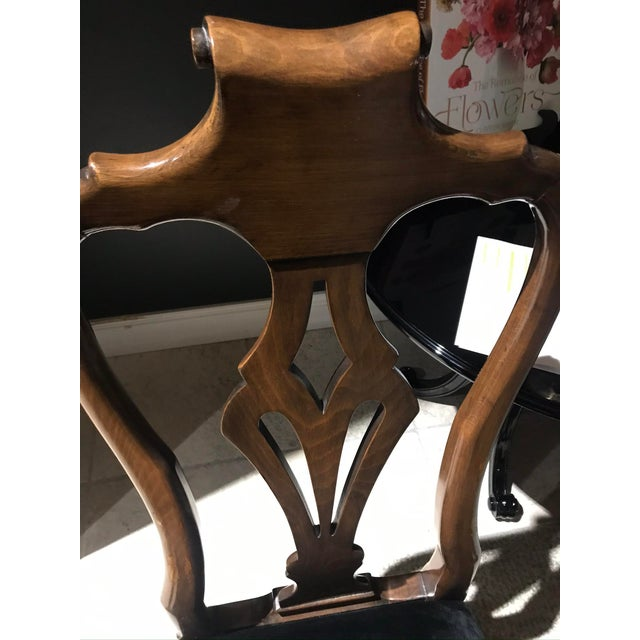 Chaddock Guy Chaddock Desk Chair With Velvet Seat For Sale - Image 4 of 5