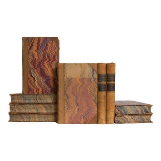 Golden Leather Treasures Book Set, (S/9) For Sale