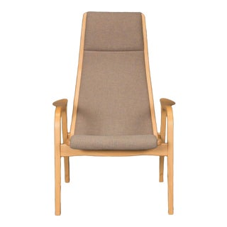 Beech Lamino Lounge Chair by Yngve Ekström for Swedese For Sale