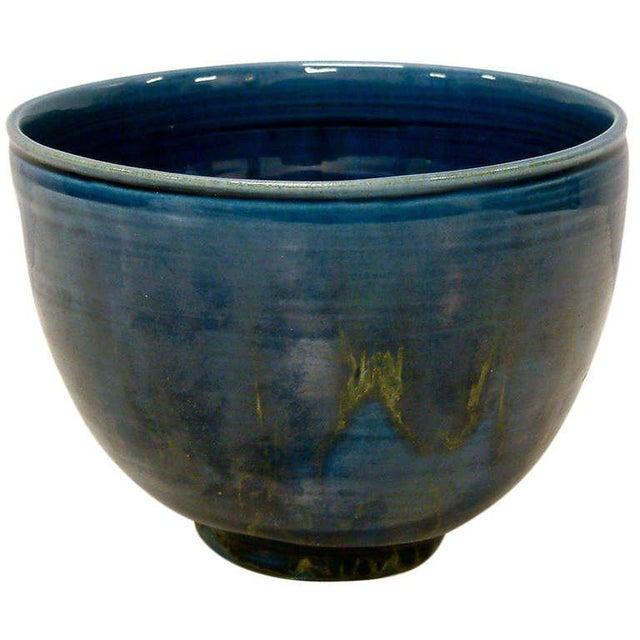 1950s Polia Pillin Blue Hi-Glaze Bowl For Sale In Richmond - Image 6 of 6