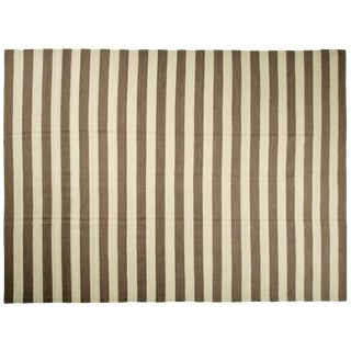 "Striped Egyptian Kilim Rug - 8'10"" X 12'1"""