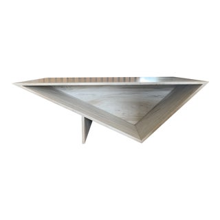 Contemporary Butera Marble Triangle Coffee Table For Sale