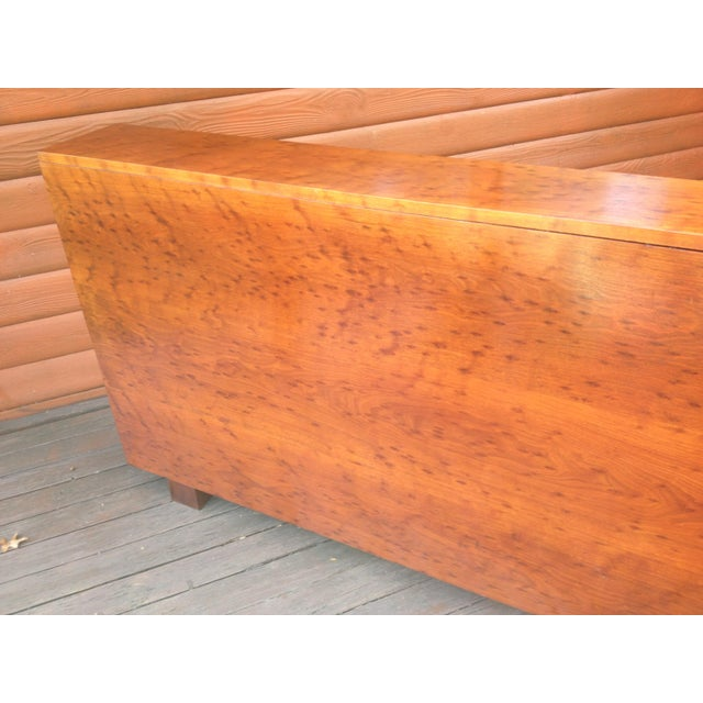 1970s Architect's Pickle Mahogany Instrument Chest for King Headboard For Sale - Image 5 of 13