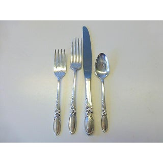 1950s Oneida Community White Orchid Silverplate Set for 8 Flatware - Set of 45 Preview