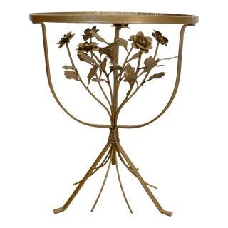Vintage Italian Hollywood Regency Sculptural End Table For Sale