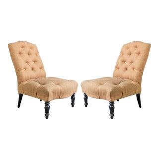 Pair of 19th Century Slipper Chairs