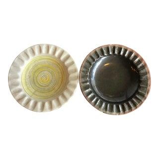 1950's Design Technics Mid-Century Ceramic Bowls - a Pair For Sale