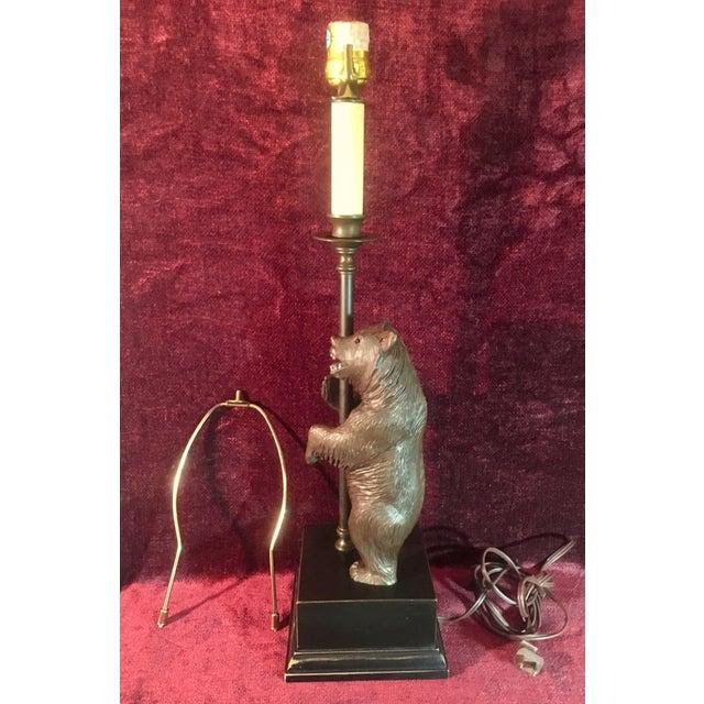 Vintage Black Forest Bear Table Lamp For Sale - Image 9 of 13