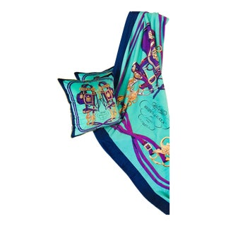 Hermes Throw Blanket Brides De Gala Cushions and Throw Blanket Set - 3 Pieces For Sale