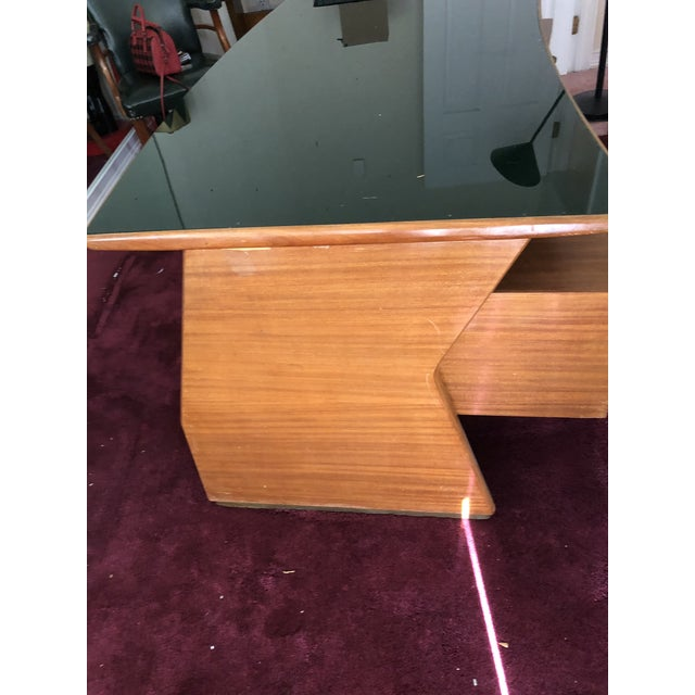 1950s Mid Century Italian Made Desk Inspired by Paolo Buffa For Sale - Image 5 of 12