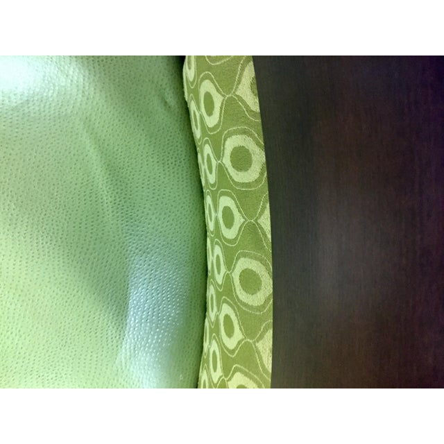 Verdant Green Patterned Dining Chairs - Set of Six - Image 7 of 7