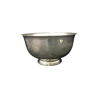 Sterling Silver Revere Bowl With Monogram For Sale