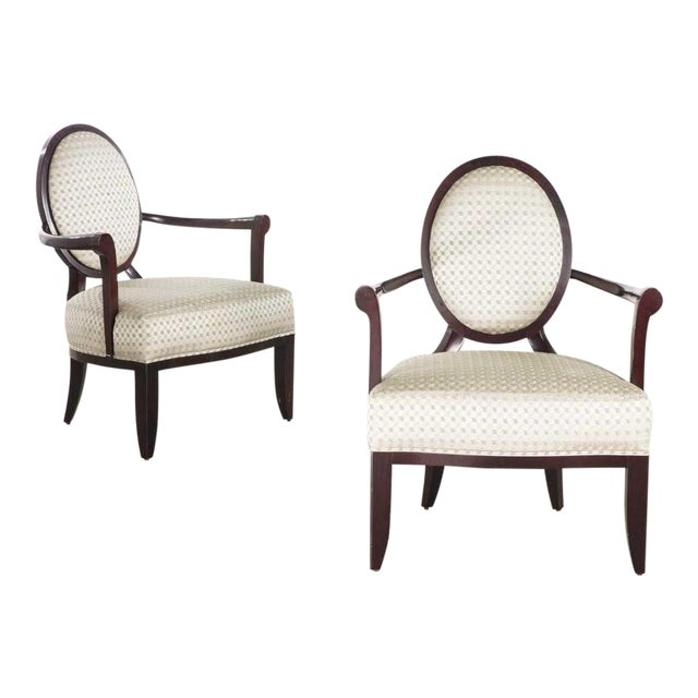 Pair of Signed Baker Furniture Company Armchairs by Barbara Barry For Sale